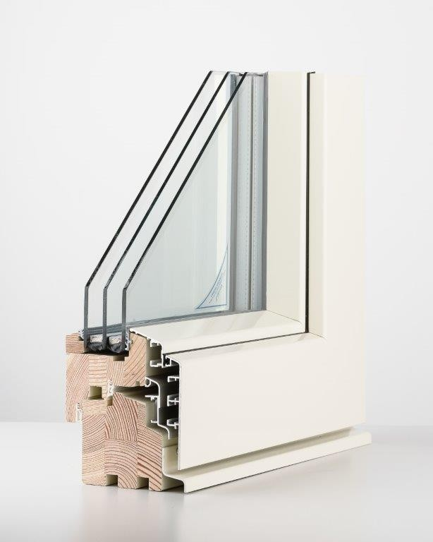 DK13 aluclad window (2- or 3-glazing)